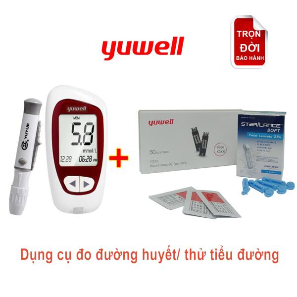 Máy đo đường huyết kèm 50 kim lấy máu kèm 50 que thử đường huyết bán chạy