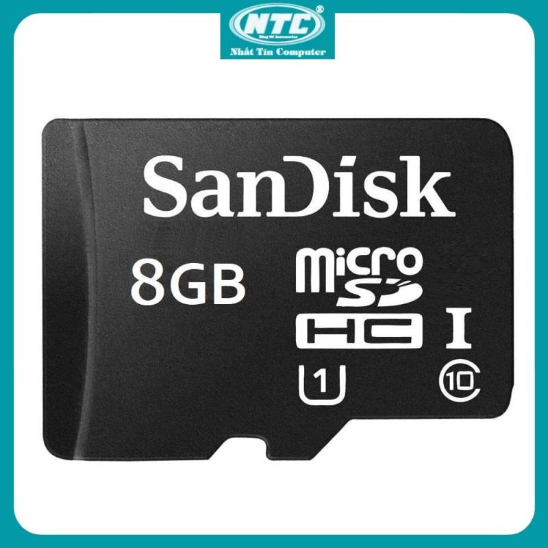 [Nhập ELAPR21 Giảm 10% đơn từ 99K, Max 200K] Thẻ nhớ MicroSDHC SanDisk 8GB Class 10 U1 80MB/s - Không Box (Đen) - Nhất Tín Computer