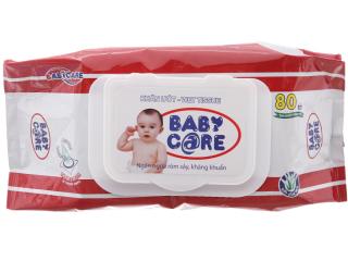 Khăn ướt Baby care không mùi 80 miếng- Tinh chất lô hội dưỡng da thumbnail
