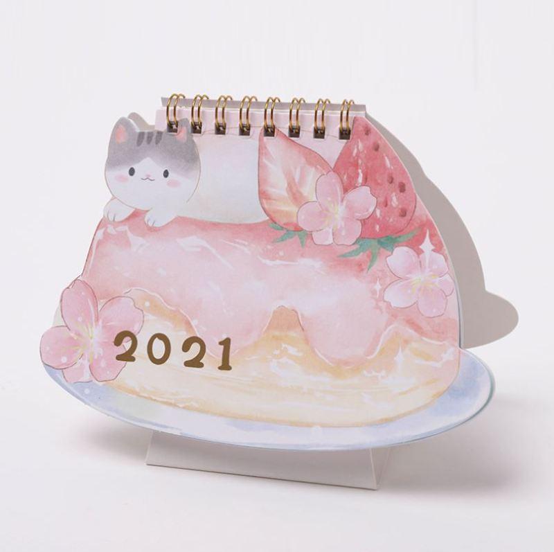 [Lấy mã giảm thêm 30%] Lịch Để Bàn 2021 Cute Amimal ( Lịch Đa Năng Lên Kế Hoạch To Do List)