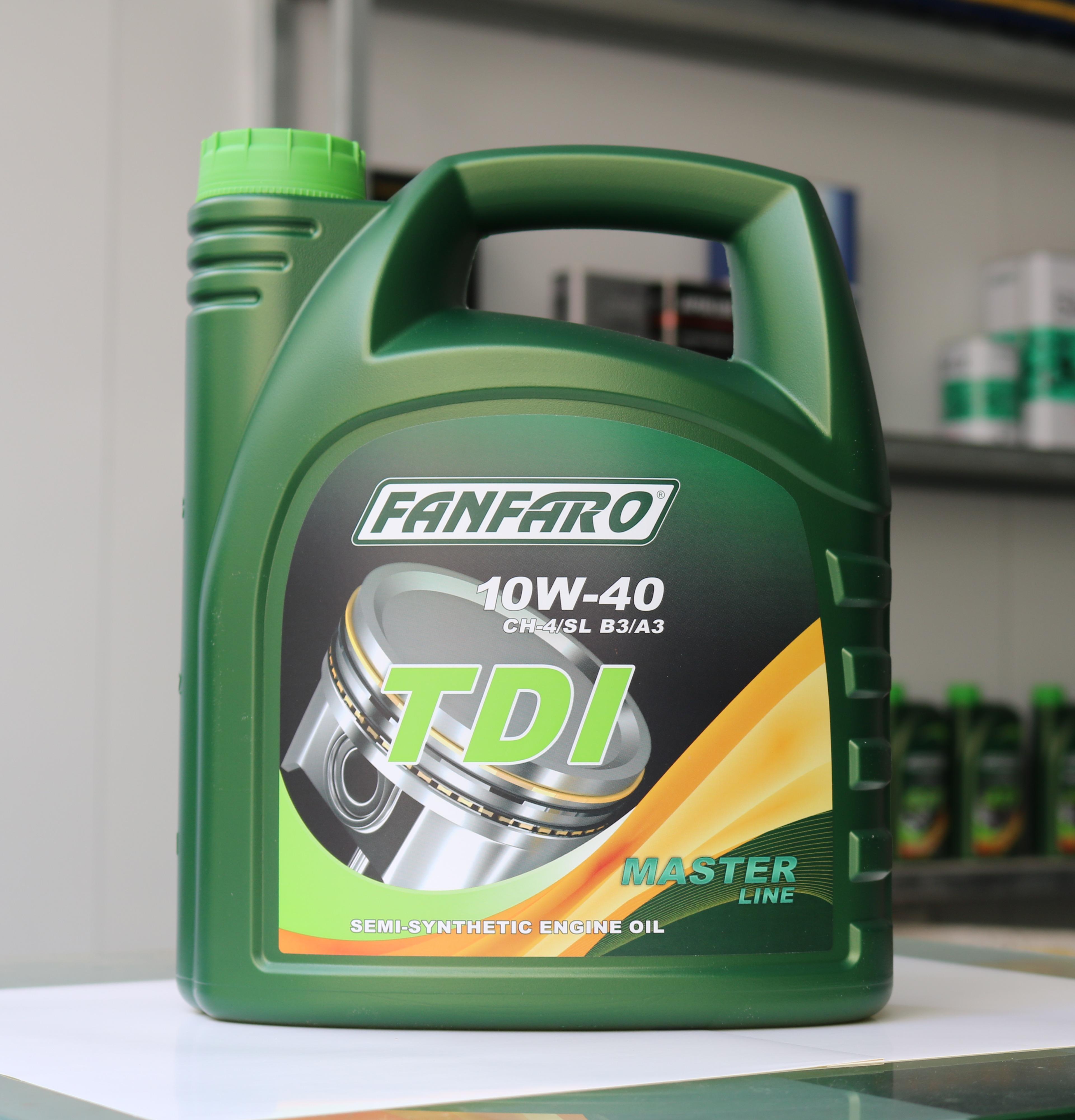 Nhớt Bán Tổng Hợp FANFARO TDI 10W-40 cho xe máy Dầu