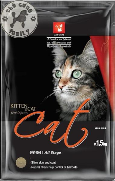Thức ăn Hạt khô dành cho mèo - Cats Eye Kitten & Cat 1.5kg