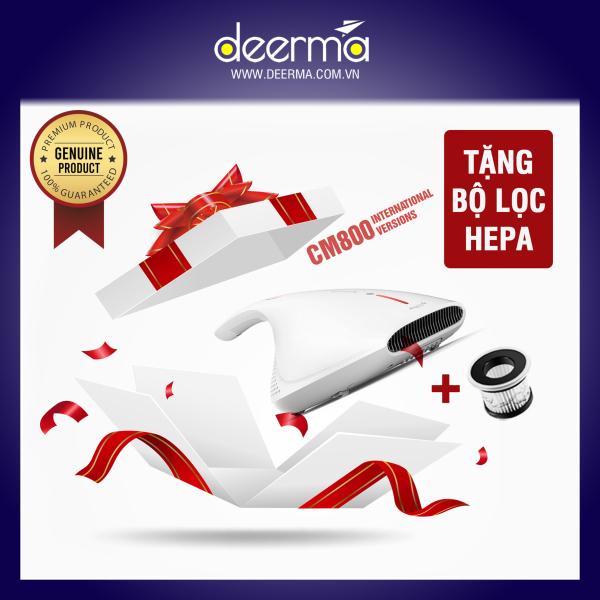(Tặng kèm lọc) Máy Hút Bụi Khử Khuẩn & Vệ Sinh Giường Nệm Cầm Tay Deerma DEM-CM800