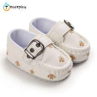 Tootplay Giày Em Bé Tập Đi, Giày Da Nhỏ Phong Cách Anh Cho Bé 3-12 Tháng Tuổi