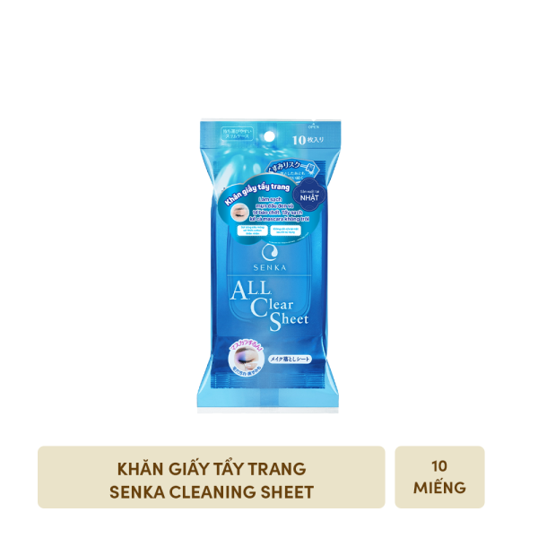 [GIFT] Khăn giấy tẩy trang Senka Cleaning Sheet (10 sheets)