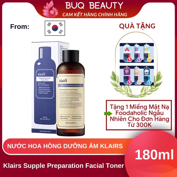 Nước hoa hồng Klairs Supple Preparation Facial Toner - Toner Klairs 180ml nhập khẩu