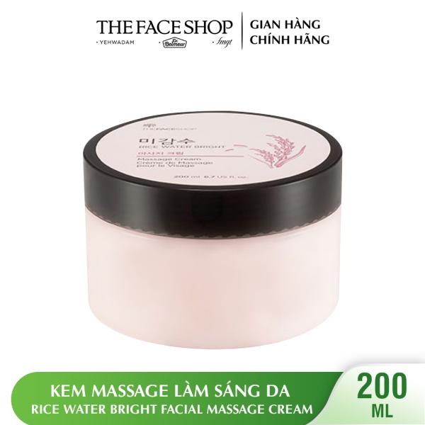 Kem Massage Làm Sáng Da THEFACESHOP Rice Water Bright Facial Massage Cream 200ml