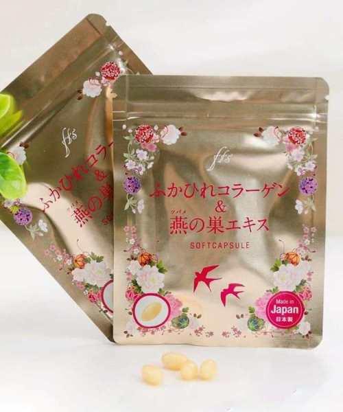Viên Uống Collagen Tươi Chiết Xuất Tổ Yến Nhật Bản Cho Da Căng Mịn Chặn Đứng Sự Hình Thành Lão Hóa nhập khẩu