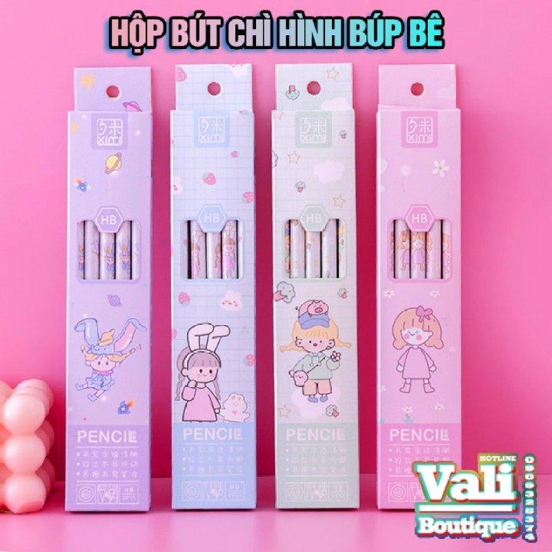 Mua Hộp 10 cây bút chì HB hình Búp bê dễ thương - nhiều mẫu - giao ngẫu nhiên - tặng 1 đồ chuốt bút chì mẫu ngẫu nhiên