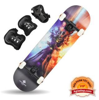 Ván trượt chuyên nghiệp SkateBoard (Phi thuyền mặt đất Landyard) + Bộ bảo vệ chân tay - Hàng Vip của Agiadep thumbnail
