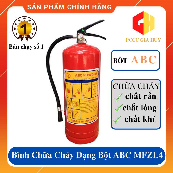 Bình chữa cháy xách tay dạng bột ABC MFZL4