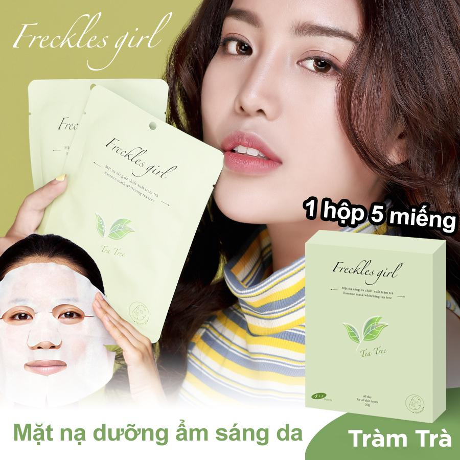 Freckles Girl 【Hộp 5 miếng】Mặt nạ Tràm Trà thiên nhiên dưỡng da trắng sáng mịn màng cấp ẩm chống lão hoá cao cấp