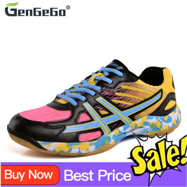 Giày Cầu Lông GenGeGo Cho Nam Nữ, Giày Thể Thao Chuyên Nghiệp, Mềm, Chống Trơn Trượt