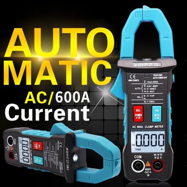 Đồng hồ vạn năng Ampe kìm Zotek Zoyi ZT-QB1 Clamp Metter  Hàng chính hãng bảo hành 12 tháng 4000 số đếm 600A kiểm tra AC NCV Amp Ohm