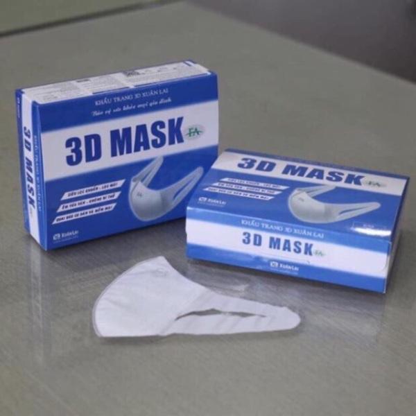 Hộp 50 chiếc khẩu trang 3D Mask Xuân Lai- hàng chính hãng nhập khẩu
