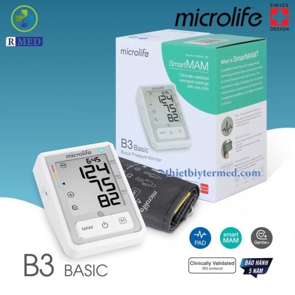 Nơi bán [ Bảo Hành 5 Năm] Microlife B3 Basic - Máy Đo Huyết Áp Bắp Tay-- Chính hãng 100%