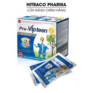 Pre-Vipteen 2 Tăng chiều cao cho trẻ từ 6 tháng tuổi, chắc khỏe xương răng - Hộp 20 gói thumbnail