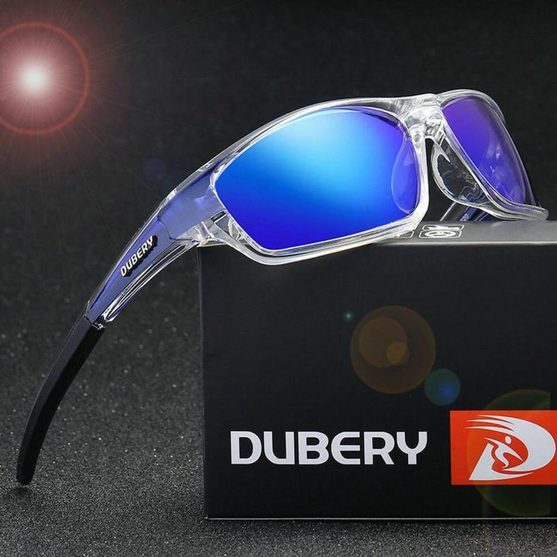 DUBERY Men Polarized Sport Sunglasses Outdoor Driving Fishing Square Glasses Hot V3R8
