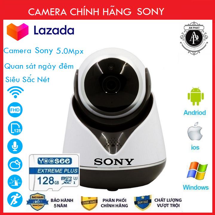 [ Combo Camera thẻ 128GB BH 60 Tháng ] Camera Wifi Sony 5.0 Xoay 360 Độ Trong Nhà Sony 4.0 Mpx Full Hd 1080P Siêu Sắc Nét - An Phat Company (MÃ KÈM THẺ GIÁ 525K VÀ KHÔNG KÈM THẺ GIÁ 425K)