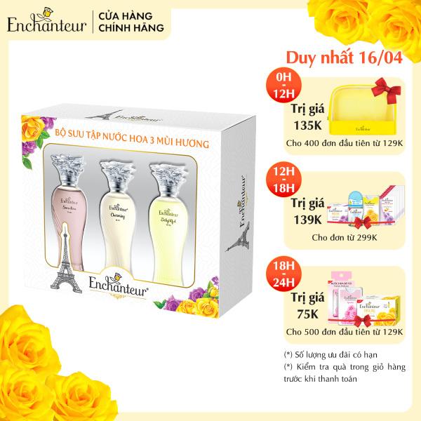 Bộ Sưu tập nước hoa 3 mùi hương Enchanteur Charming, Sensation, Delightful 10ml/ Chai nhập khẩu