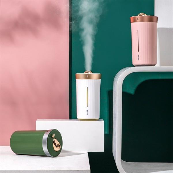Máy Phun Sương hoặc Phun Tinh Dầu tạo độ ẩm trên xe Ôtô hay Ở nhà - Baseus Whale Car & Home Humidifier, hàng chính hãng