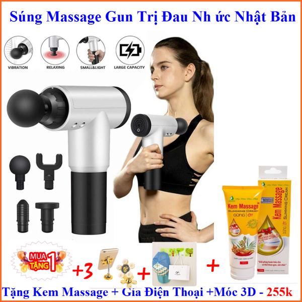 Bảng giá Súng Massage Cầm Tay Trị Liệu Đau Nhức Tặng Kem Massage + Đỡ Điện Thoại +Miếng Dán Trị Gía : 250k - KIM DUNG STORE