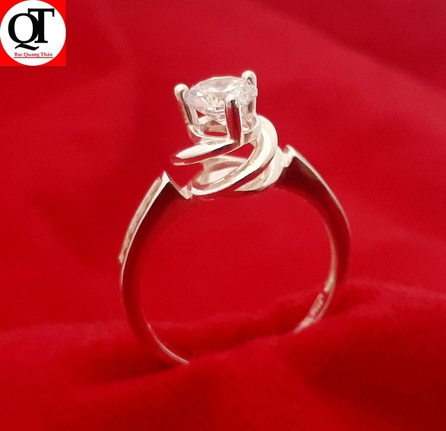 Nhẫn nữ Bạc Quang Thản, nhẫn nữ bạc phong cách Hàn Quốc  chất liệu bạc thật không xi mạ có thể chỉnh size tay yêu cầu, thích hợp đeo thời trang, làm quà tặng – QTNU16