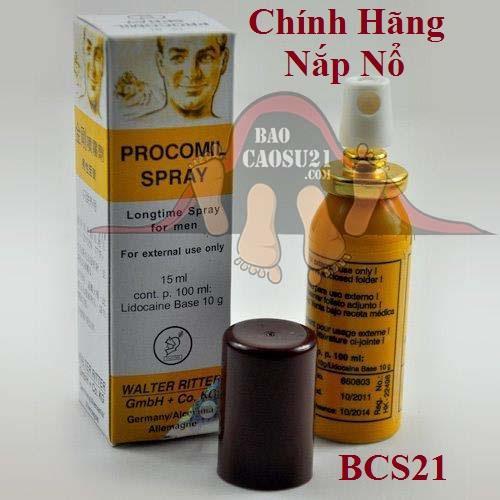 BCS21 Xịt Kéo Dài Thời Gian Quan Hệ Trị Xuất Tinh Sớm Procomil Spray Đức (khuyến cáo hàng ngon)