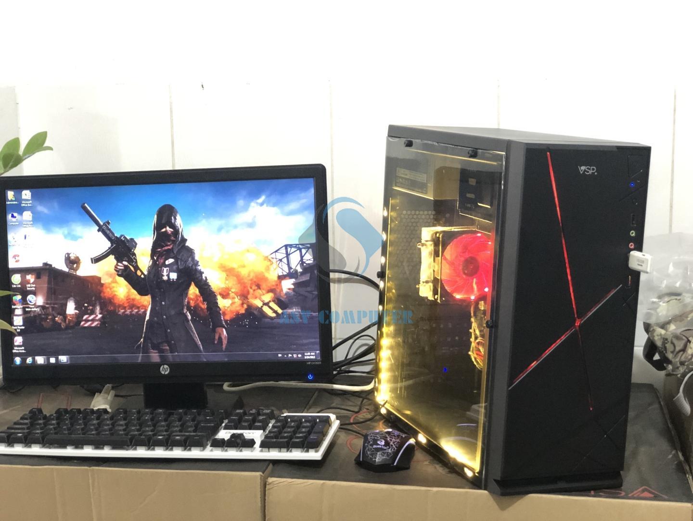 PC chơi game A8 6600k 3 9Ghz/ Ram 8G/ Vga 4G/ Hdd 250G/ Case nguồn/ phím  chuột LED (như hình)