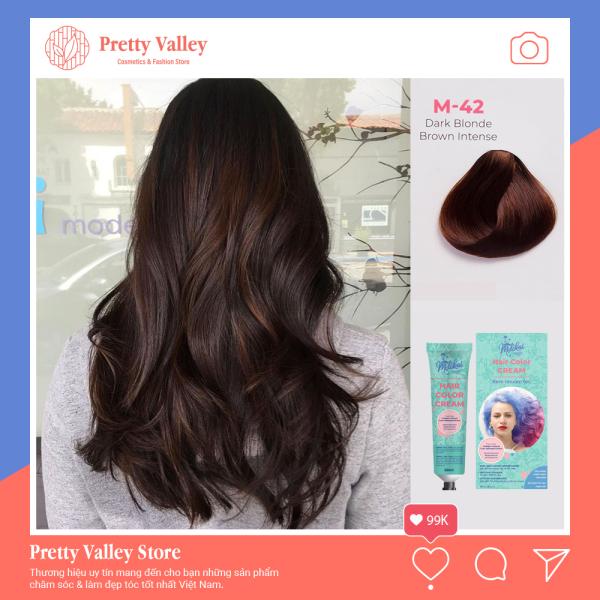 [HCM]Kem nhuộm tóc cao cấp màu nâu đậm Molokai 60ml [ TẶNG KÈM GĂNG TAY + CHAI OXY TRỢ DƯỠNG TÓC ] nhập khẩu
