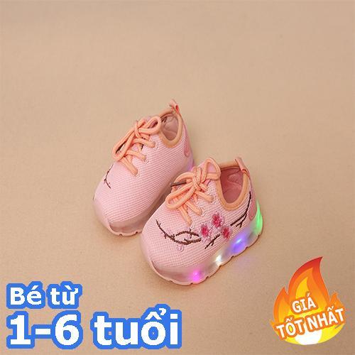 [SIÊU RẺ] Giày thể thao cho bé gái thêu hoa