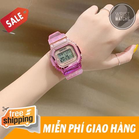 Nơi bán Đồng hồ điện tử, đồng hồ thời trang nữ, đồng hồ thể thao nam Shhors SP1099, dây cao su, màu sắc Titan độc lạ, có đèn led, dây cao su trong suốt chịu nước tốt 3TM