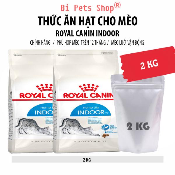 Thức ăn hạt cho mèo Royal Canin Indoor - 2 KG - Dành cho mèo trưởng thành từ 12 tháng tuổi trở lên