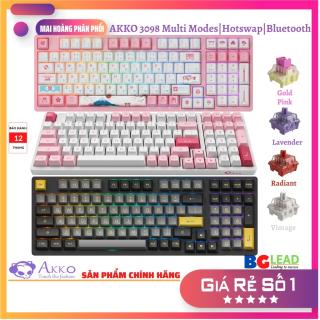 [Chính hãng] Bàn phím cơ AKKO 3098 Multi-modes ( Hotswap Led RGB Bluetooth 5.0 Wireless 2.4Ghz Foam tiêu âm Pre-lube) thumbnail