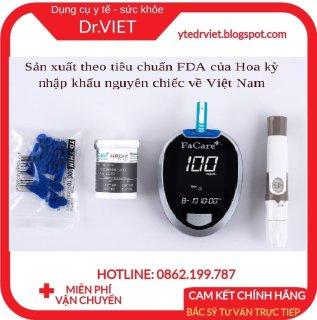 Máy đo đường huyết Bluetooth FaCare FC-G168- Giúp người bị tiểu đường, đái tháo đường kiểm tra thường xuyên, phòng tránh biến chứng nguy hiểm khi mắc bệnh tiểu đường, đái tháo đường tuýp 1, tuýp 2, thiếu hụt insulin thumbnail