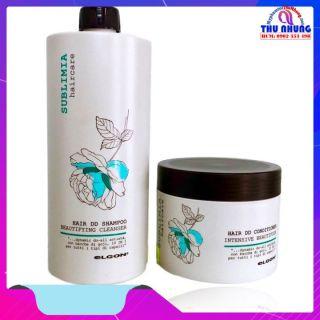 Bộ dầu gội ủ siêu phục hồi tóc hư tổn ELGON Sublimia 750ml 500ml thumbnail