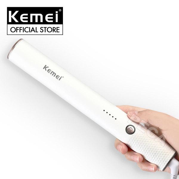 Lược điện chải thẳng tóc 5 mức nhiệt độ Kemei KM-509 làm nóng nhanh, có thể uốn tóc, phù hợp với nhiều loại tóc ,an toàn sử dụng - Phân phối chính hãng