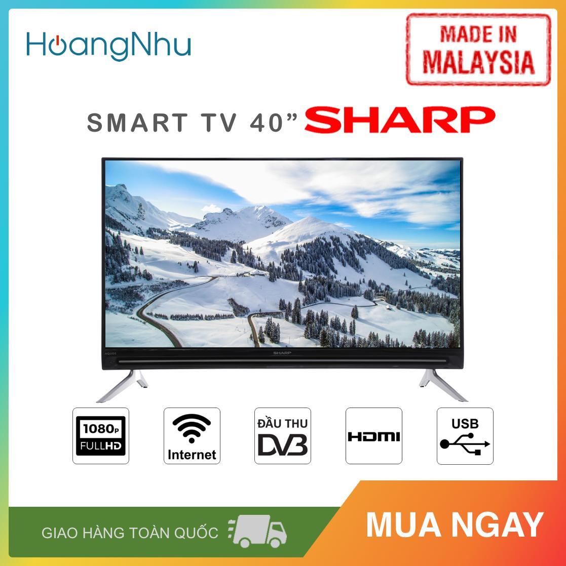 Bảng giá Smart TV Sharp 40 inch Kết nối Internet Wifi 2T-C40AE1X (Full HD, Hệ điều hành Easy Smart, Truyền hình KTS, màu đen) - Hàng Malaysia - Bảo hành toàn quốc 2 năm