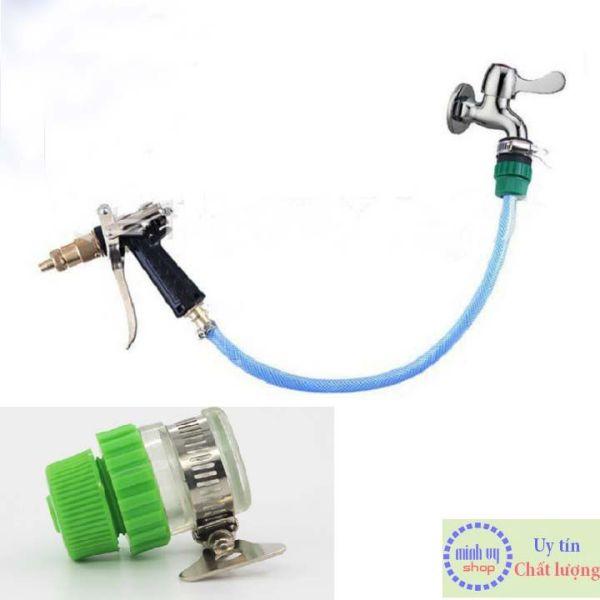 Bảng giá Nối nhanh ống mềm 14mm với vòi nước để tưới cây,rửa xe - Cut nối nhanh ống nước mềm 14-16mm với vòi nước NNCG