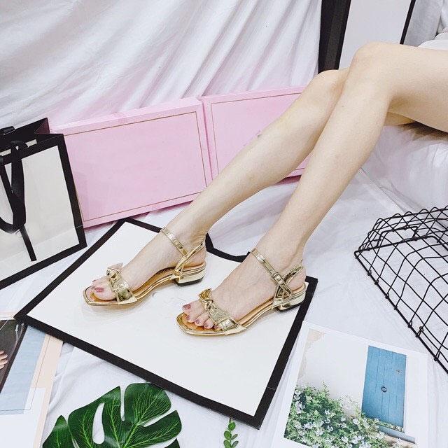 Offer Khuyến Mại (Có Mã Miễn Ship) Giày Nữ, Giày Cao Gót Nữ, Giày Sandal Nữ đi Học PinkShopGiayDep Kiểu Dáng Thắt Nơ Lên Chân Sang Trọng