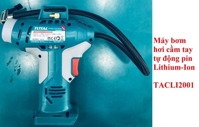 20V Máy bơm hơi tự động dùng pin Total TACLI2001 KHÔNG KÈM THEO PIN VÀ CỤC SẠC
