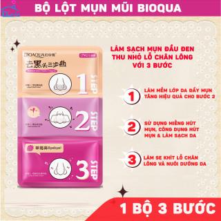(3 BỘ) Miếng lột mụn mũi 3 bước Bioqua - Đẩy mụn - Lột mụn - se nhỏ chân lông giúp da thông thoáng sạch sẽ và thẩm mỹ thumbnail