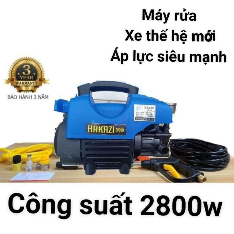 máy rửa xe áp lực cao - Máy rửa xe mini - Máy rửa xe gia đình-2800W - cảm ứng từ - lõi đồng ( bảo hành 3 năm 1 đổi 1