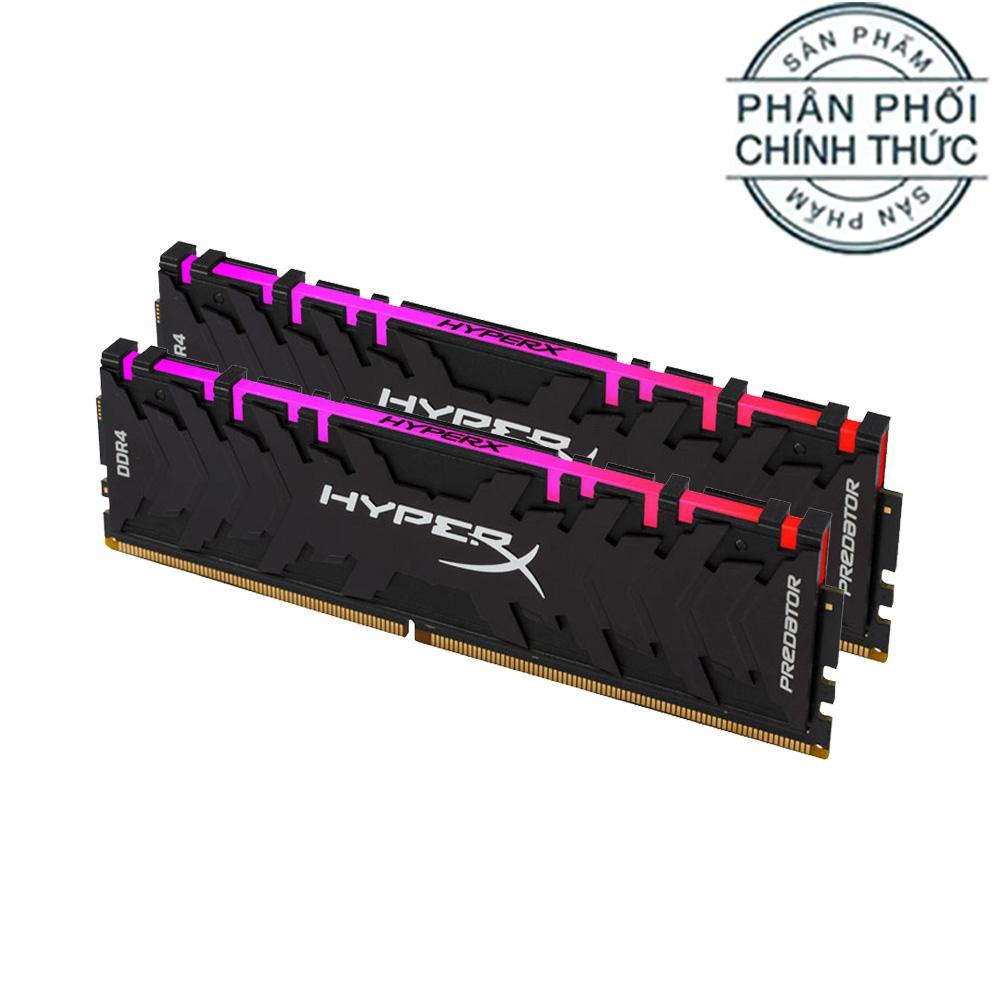 Ram PC Kingston HyperX Predator DDR4 RGB 32GB Bus 3200 Black CL16 XMP (16GB x 2) HX432C16PB3AK2/32 - Hãng Phân Phối Chính Thức