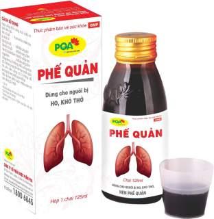 Phế quản PQA chai 125ml Bổ phổi, ích phế, hỗ trợ giảm ho, hen phế quản thumbnail