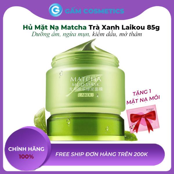[Hủ Lớn] Mặt nạ bùn trà xanh Matcha Mud Mask Laikou 85g dưỡng da mụn mờ thâm mỹ phẩm nội địa Trung chính hãng - Gấm Cosmetics