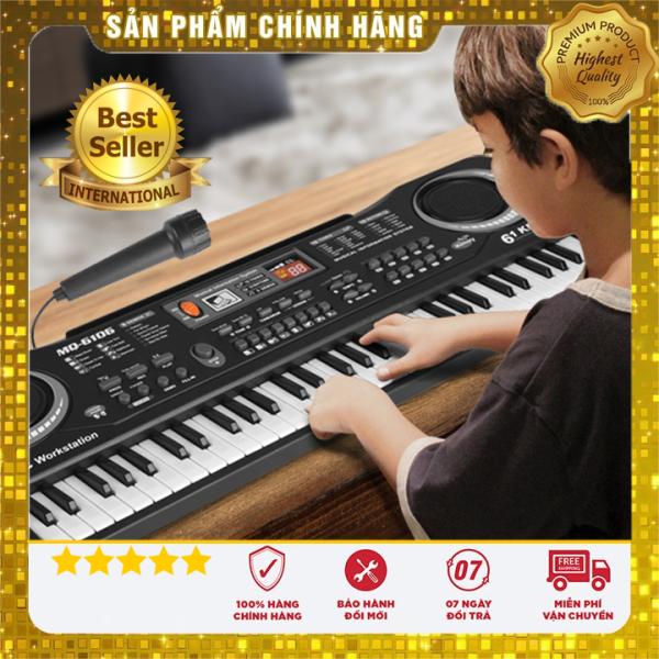 Đàn piano, đàn piano 61 phím kèm mic, đồ chơi nhạc cụ, đồ chơi nhạc cụ cho bé cưng, đàn piano cho bé tăng trí thông minh