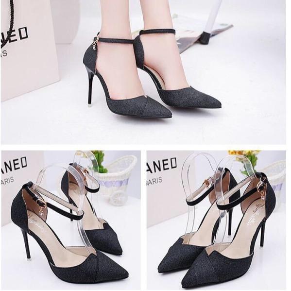 [ẢNH THẬT] Giày cao gót 8 phân bít mũi kim tuyến LZ014 thiết kế sang trọng, trẻ trung HOT giá rẻ