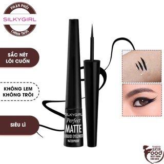 Bút Kẻ Mắt Nước Siêu Lì, Chống Lem Silkygirl Perfect Matte Liquid Eyeliner Waterproof 2,5ml thumbnail
