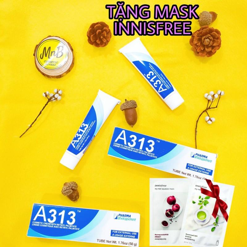 [ Chính hãng NỘI ĐỊA PHÁP] Kem ngăn ngừa mụn, chống lão hóa mạnh A313 Pommade Retinol Cream dược mỹ phẩm PHÁP, làm giảm mụn, mờ thâm, ngăn nếp nhăn, giúp da căng bóng, cho da dầu mụn, nhạy cảm 50gram - MnB Cosmetic - La Roche Posay giá rẻ